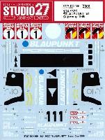 スタジオ27ツーリングカー/GTカー オリジナルデカールポルシェ 962C ブラウプンクト #1 スーパーカップ 1986