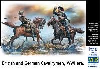マスターボックス1/35 ミリタリーミニチュアWW1 イギリス・ドイツ 騎兵