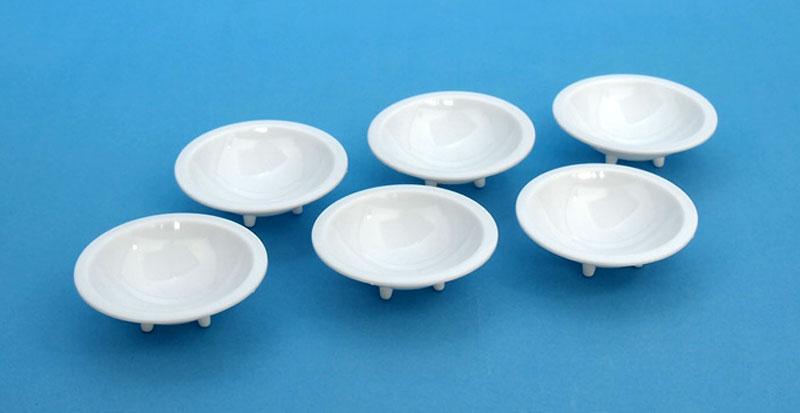 白い塗料皿 (6枚入) (1) 深丸底皿(ウェーブマテリアルNo.OM-182)商品画像_1