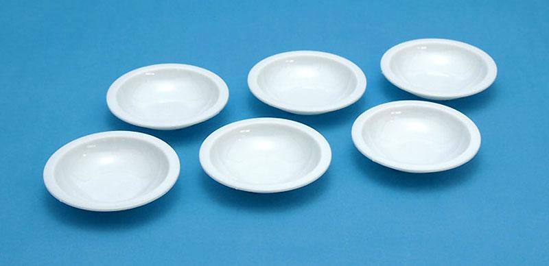 白い塗料皿 (6枚入) (2) 浅丸底皿(ウェーブホビーツールシリーズNo.OM-183)商品画像_1