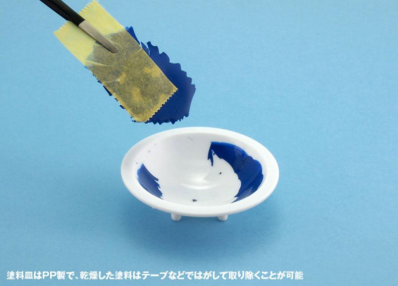 白い塗料皿 (6枚入) (2) 浅丸底皿(ウェーブホビーツールシリーズNo.OM-183)商品画像_4