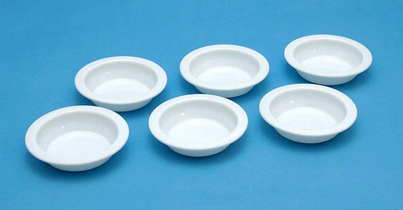 白い塗料皿 (6枚入) (3) 平底皿(ウェーブホビーツールシリーズNo.OM-184)商品画像_1