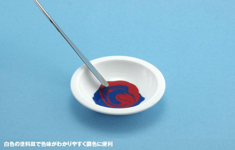 白い塗料皿 (6枚入) (3) 平底皿(ウェーブホビーツールシリーズNo.OM-184)商品画像_2