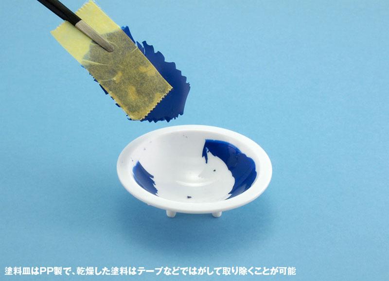 白い塗料皿 (6枚入) (3) 平底皿(ウェーブホビーツールシリーズNo.OM-184)商品画像_4
