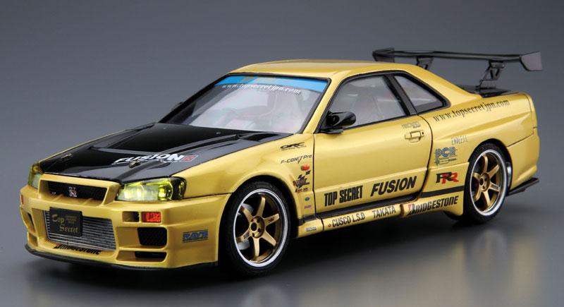 トップシークレット BNR34 スカイライン GT-R '02プラモデル(アオシマ1/24 ザ・チューンドカーNo.015)商品画像_2