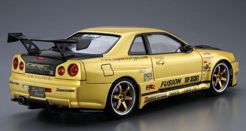 トップシークレット BNR34 スカイライン GT-R '02プラモデル(アオシマ1/24 ザ・チューンドカーNo.015)商品画像_3