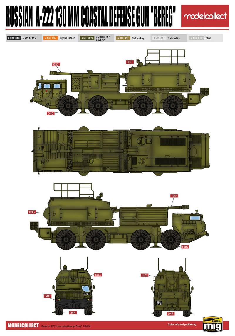 ロシア A-222 130mm 自走沿岸砲システム ベーレクプラモデル(モデルコレクト1/72 AFV キットNo.UA72051)商品画像_2