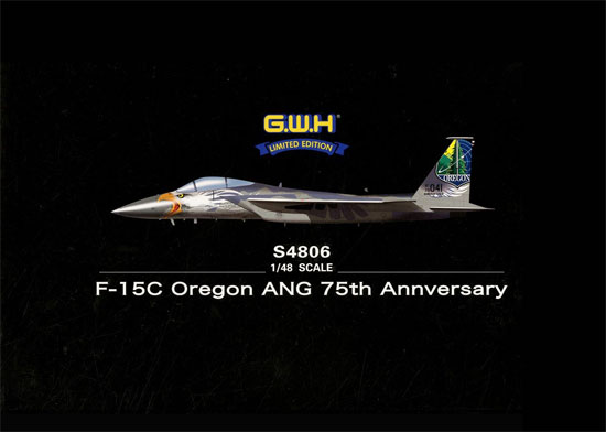 F-15C イーグル オレゴン州空軍 75周年記念塗装プラモデル(グレートウォールホビー1/48 ミリタリーエアクラフト プラモデルNo.S4806)商品画像