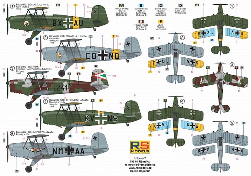 ビュッカー Bu131D 飛行教導隊プラモデル(RSモデル1/72 エアクラフト プラモデルNo.92205)商品画像_1