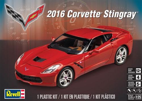 2016 コルベットスティングレイプラモデル(レベルカーモデルNo.85-4425)商品画像
