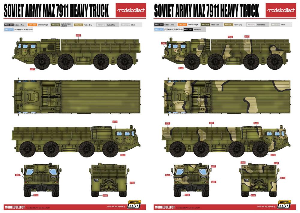 ソ連軍 MAZ-7911 重トラックプラモデル(モデルコレクト1/72 AFV キットNo.UA72064)商品画像_2