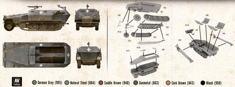 ドイツ Sd.kfz.251/1 Ausf.A 装甲兵員輸送車プラモデル(FTF1/72 AFVNo.PL1939-040)商品画像_1
