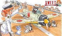 SWEET1/144スケールキット零戦21型 空母戦闘機隊の飛行甲板セット