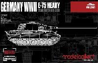 モデルコレクト1/72 AFV キットドイツ E-75 重戦車 w/88mm砲 (マスターレベル リミテッドエディション)