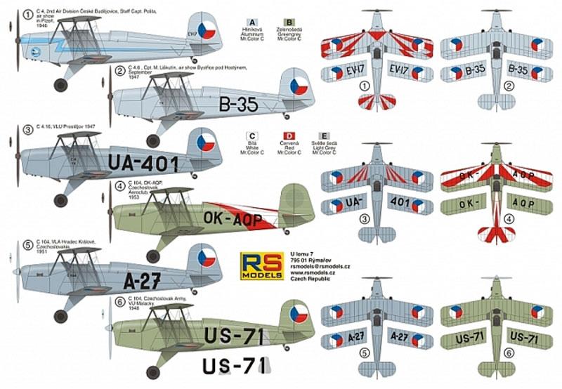C-4 & C-104 練習機プラモデル(RSモデル1/72 エアクラフト プラモデルNo.92204)商品画像_1