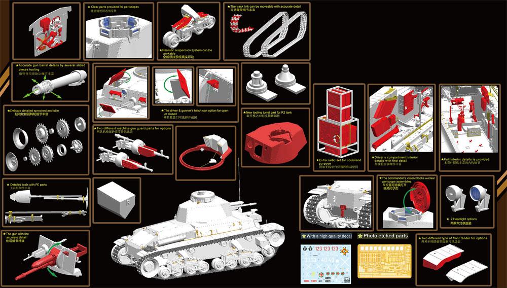 チェコ シュコダ LTVz35 軽戦車 & ルーマニア R2 戦車 (2in1)プラモデル(ブロンコモデル1/35 AFVモデルNo.CB35105)商品画像_2