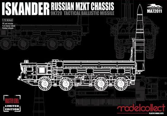 ロシア 9K720 イスカンデル M 短距離弾道ミサイル w/MZKTシャシープラモデル(モデルコレクト1/72 AFV キットNo.MA72011)商品画像