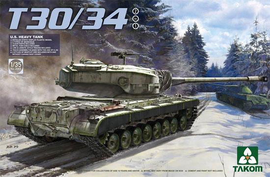 アメリカ 試作重戦車 T30/34 2 in 1プラモデル(タコム1/35 ミリタリーNo.TKO2065)商品画像
