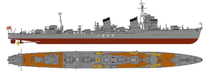 日本海軍 特型駆逐艦 曙 (新装備パーツ付)プラモデル(ピットロード1/700 スカイウェーブ W シリーズNo.SPW050)商品画像_1