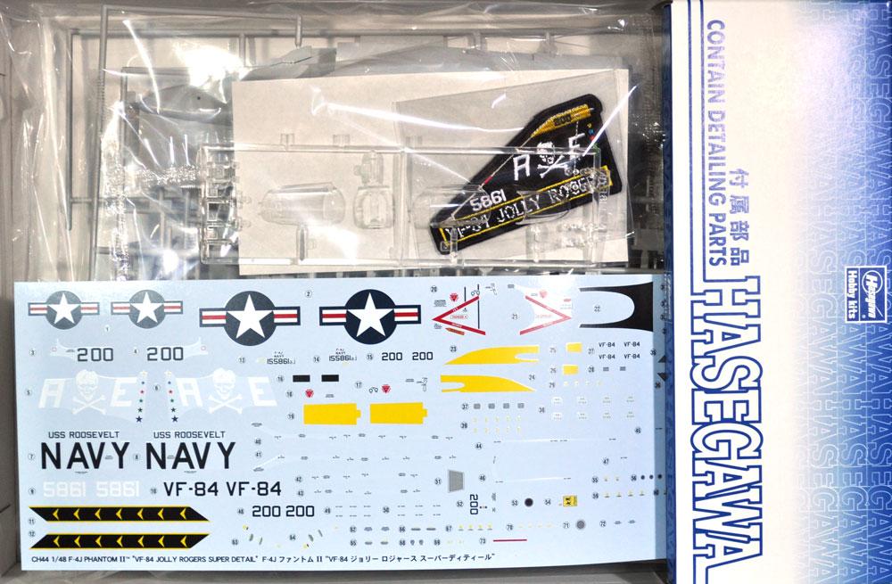 F-4J ファントム 2 VF-84 ジョリーロジャース スーパーディテールプラモデル(ハセガワ1/48 飛行機 限定生産No.CH044)商品画像_1