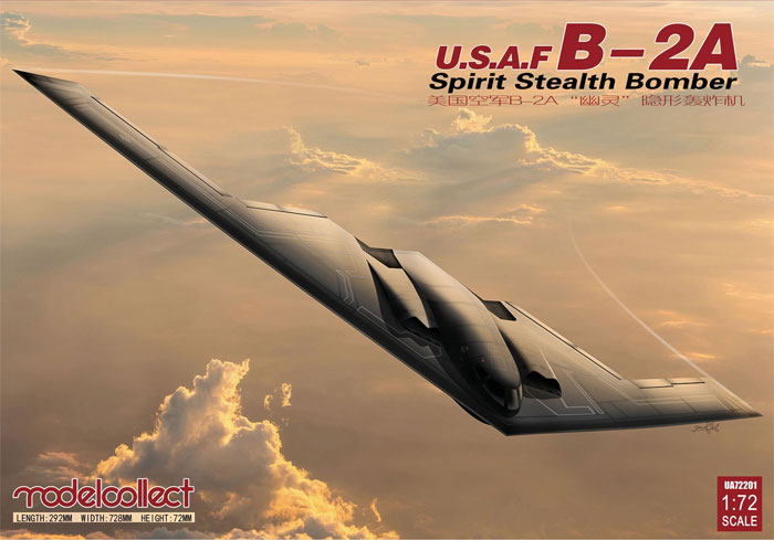 B-2A スピリット ステルス爆撃機プラモデル(モデルコレクト1/72 エアクラフト プラモデルNo.UA-72201)商品画像