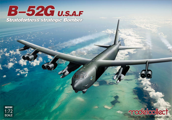B-52G ストラトフォートレス U.S.A.Fプラモデル(モデルコレクト1/72 エアクラフト プラモデルNo.UA72202)商品画像