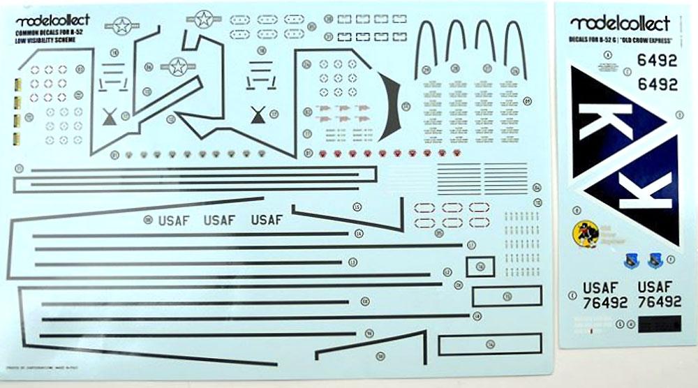 B-52G ストラトフォートレス U.S.A.Fプラモデル(モデルコレクト1/72 エアクラフト プラモデルNo.UA72202)商品画像_2
