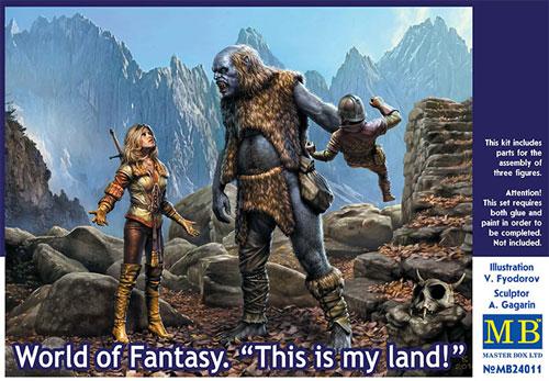 This is my land! (トロール・女剣士・ドワーフ)プラモデル(マスターボックスワールド オブ ファンタジー (World of Fantasy)No.MB24011)商品画像