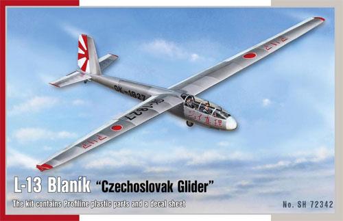 チェコ レット L-13 ブラニック グライダープラモデル(スペシャルホビー1/72 エアクラフト プラモデルNo.SH72342)商品画像