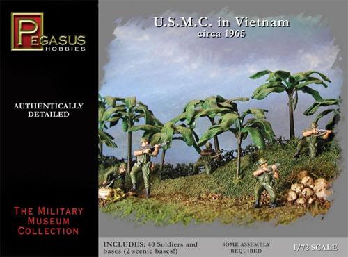 アメリカ海兵隊 ベトナム戦争 1965年頃プラモデル(ペガサスホビー1/72 ミリタリーミュージアムNo.7401)商品画像