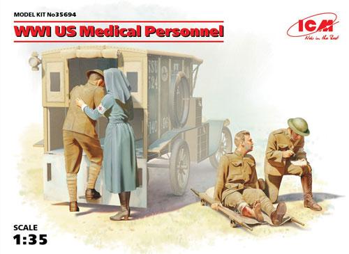 WW1 アメリカ衛生兵プラモデル(ICM1/35 ミリタリービークル・フィギュアNo.35694)商品画像