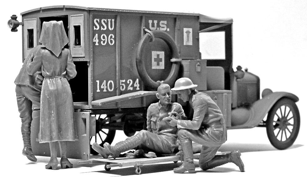WW1 アメリカ衛生兵プラモデル(ICM1/35 ミリタリービークル・フィギュアNo.35694)商品画像_3