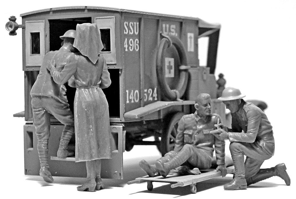 WW1 アメリカ衛生兵プラモデル(ICM1/35 ミリタリービークル・フィギュアNo.35694)商品画像_4