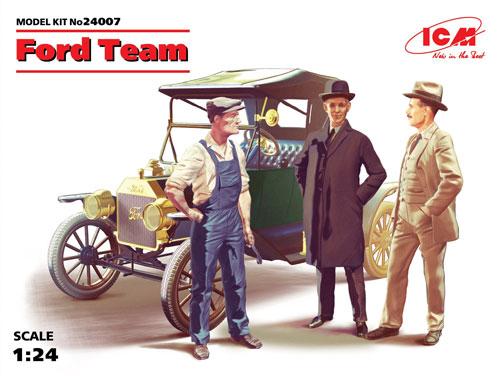 T型フォード 1913 ロードスター w/フィギュアプラモデル(ICM1/24 カーモデルNo.24007)商品画像