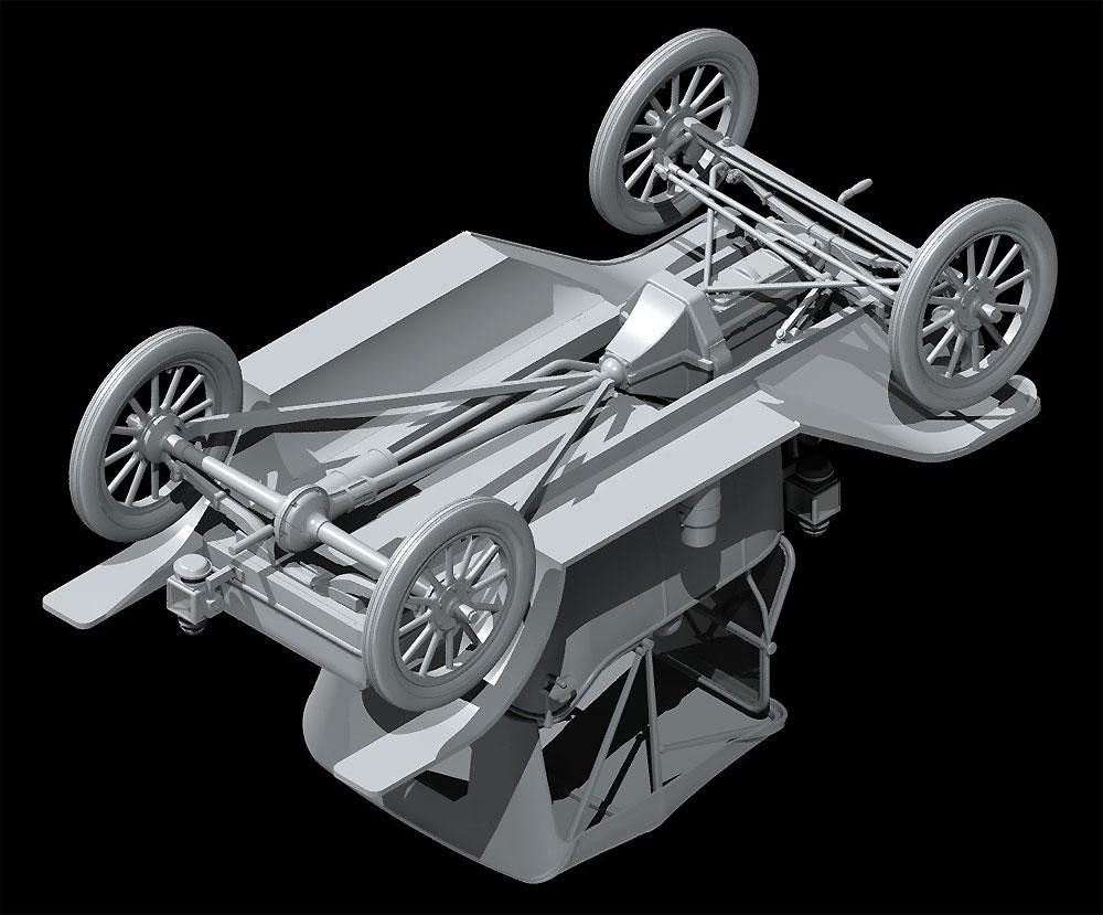 T型フォード 1913 ロードスター w/フィギュアプラモデル(ICM1/24 カーモデルNo.24007)商品画像_4