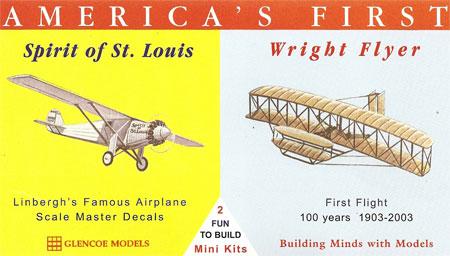 アメリカ航空史セット スピリット・オブ・セントルイス & ライト・フライヤープラモデル(グレンコモデルプラスチックモデル組立キットNo.03102)商品画像