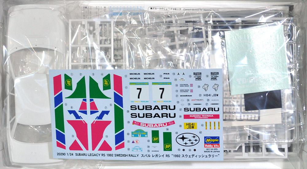 スバル レガシイ RS 1992 スウェディッシュラリープラモデル(ハセガワ1/24 自動車 限定生産No.20290)商品画像_1