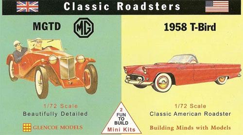 クラシックロードスター MG TD & 1958 Tバードプラモデル(グレンコモデルプラスチックモデル組立キットNo.03606)商品画像
