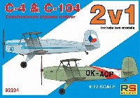 RSモデル1/72 エアクラフト プラモデルC-4 & C-104 練習機