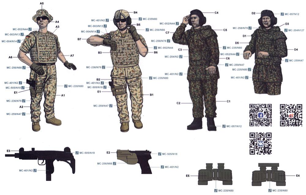 現代ドイツ装甲兵プラモデル(MENG-MODEL1/35 ヒューマン シリーズNo.HS-006)商品画像_2