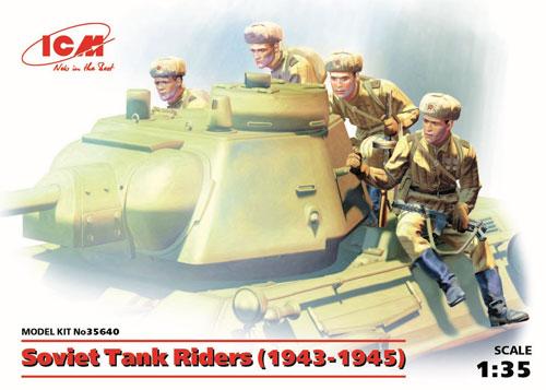 ソビエト 戦車搭乗兵 (1943-1945)プラモデル(ICM1/35 ミリタリービークル・フィギュアNo.35640)商品画像