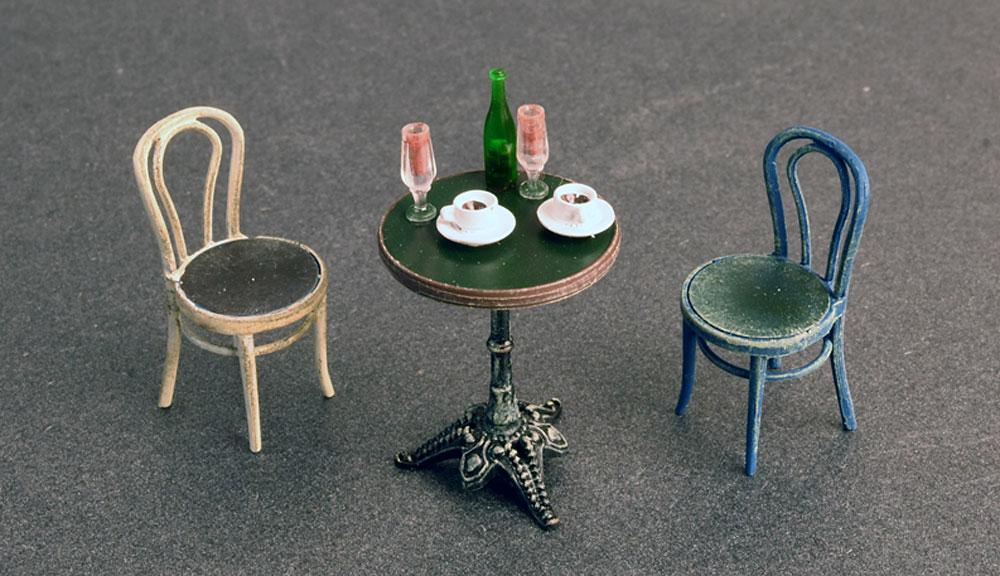 カフェ 家具と食器プラモデル(ミニアート1/35 ビルディング&アクセサリー シリーズNo.35569)商品画像_2