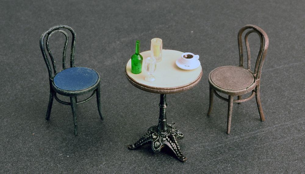 カフェ 家具と食器プラモデル(ミニアート1/35 ビルディング&アクセサリー シリーズNo.35569)商品画像_3