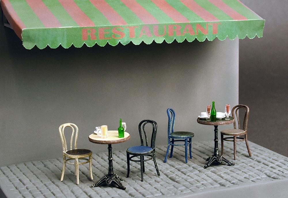 カフェ 家具と食器プラモデル(ミニアート1/35 ビルディング&アクセサリー シリーズNo.35569)商品画像_4