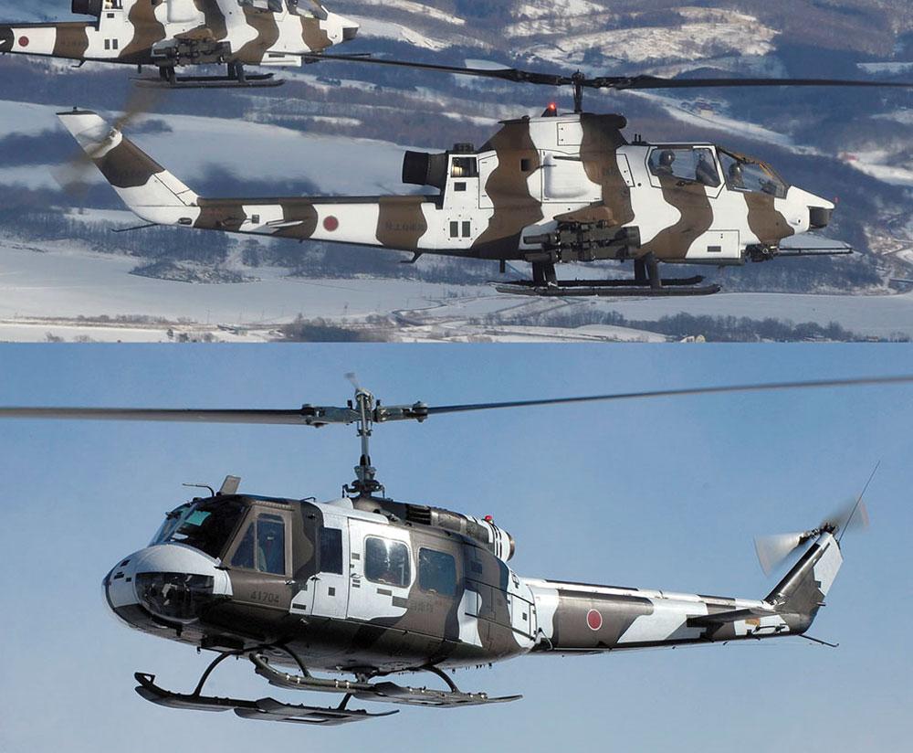 ベル AH-1S コブラチョッパー & ベル UH-1H イロコイ ウインター カムフラージュプラモデル(ハセガワ1/72 飛行機 限定生産No.02239)商品画像_4