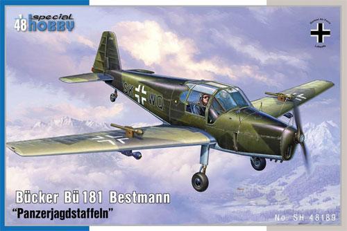 ビュッカー Bu181 ベストマン 対戦車攻撃部隊プラモデル(スペシャルホビー1/48 エアクラフト プラモデルNo.SH48189)商品画像