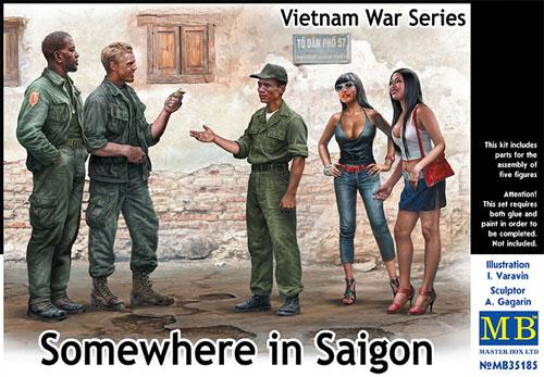 サイゴンのどこかで (ベトナム戦争シリーズ)プラモデル(マスターボックス1/35 ミリタリーミニチュアNo.MB35185)商品画像