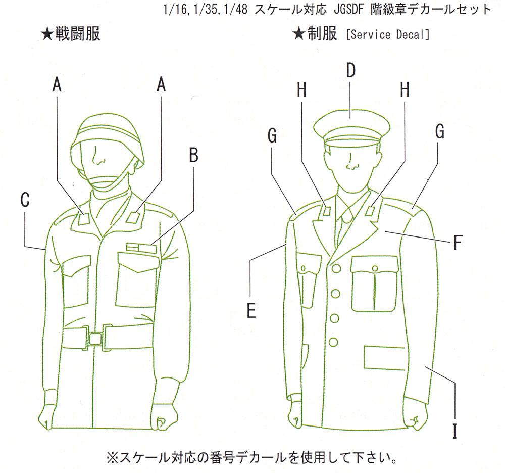 陸上自衛隊 階級章 デカールセットデカール(フォックスモデル (FOX MODELS)AFVデカールNo.D0009)商品画像_3