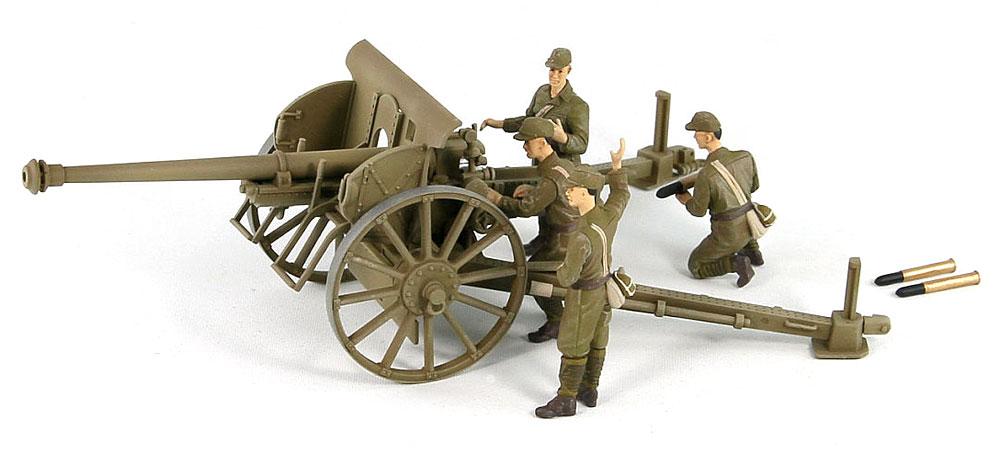 日本陸軍 75mm 90式野砲プラモデル(ピットロード1/35 グランドアーマーシリーズNo.G041)商品画像_2