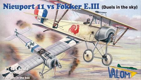 ニューポール 11 vs フォッカー E.3 アインデッカープラモデル(バロムモデル1/144 エアクラフトNo.14420)商品画像
